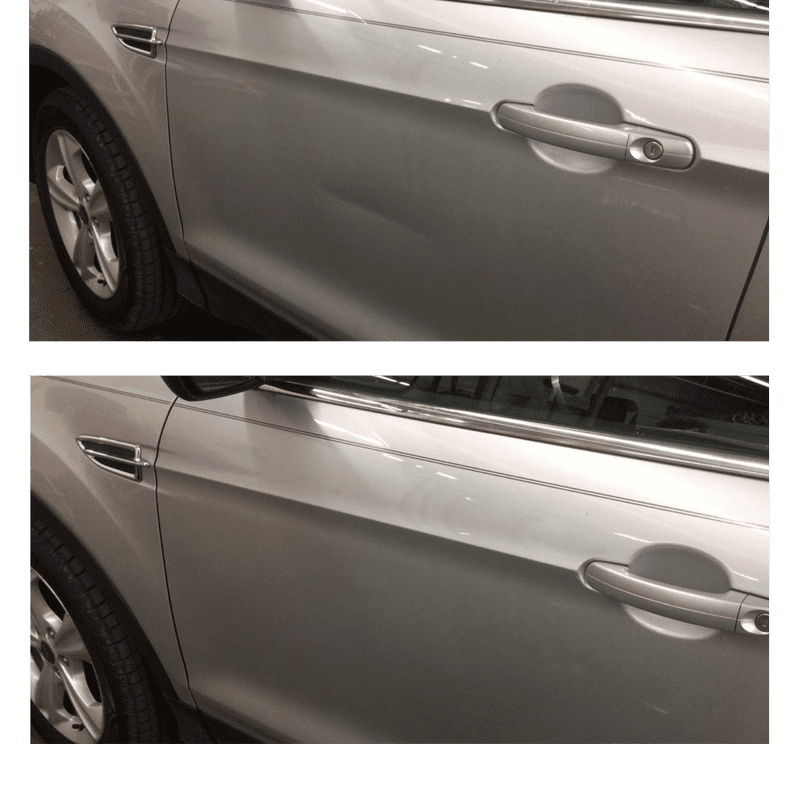 Before and After mobile dent repair orange county
