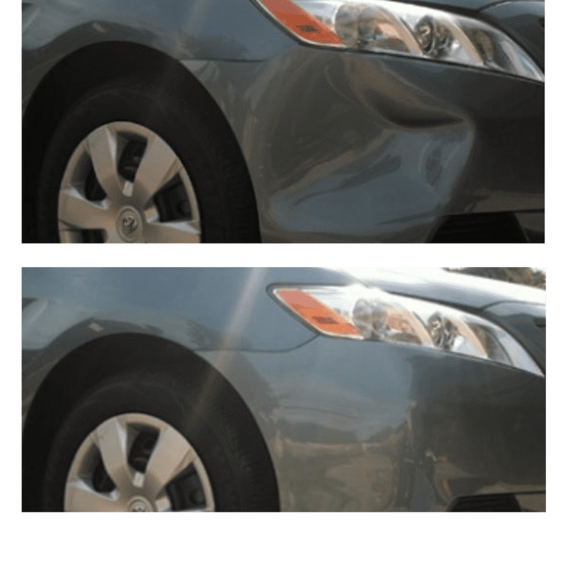 Before and After dent repair orange county