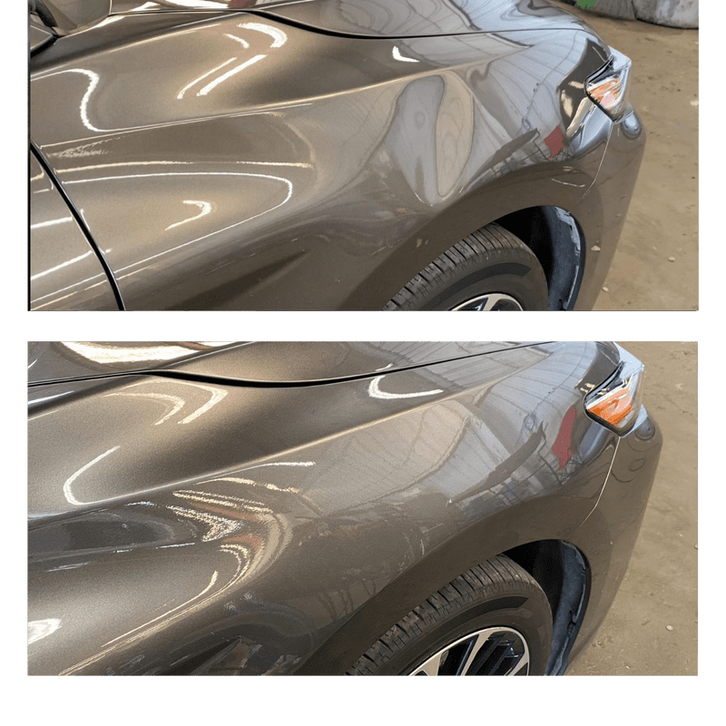 Before and After Paintless dent repair Irvine