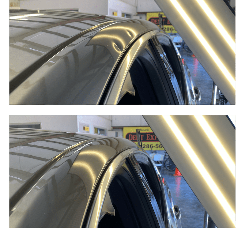 Before and After paintless dent removal orange county