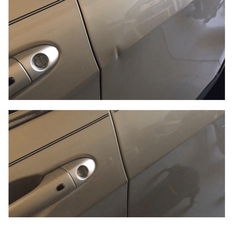 Before and After dent removal orange county